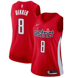 Nike Washington Wizards Swingman Red Sam Dekker 2018/19 Jersey - Earned Edition - Women's